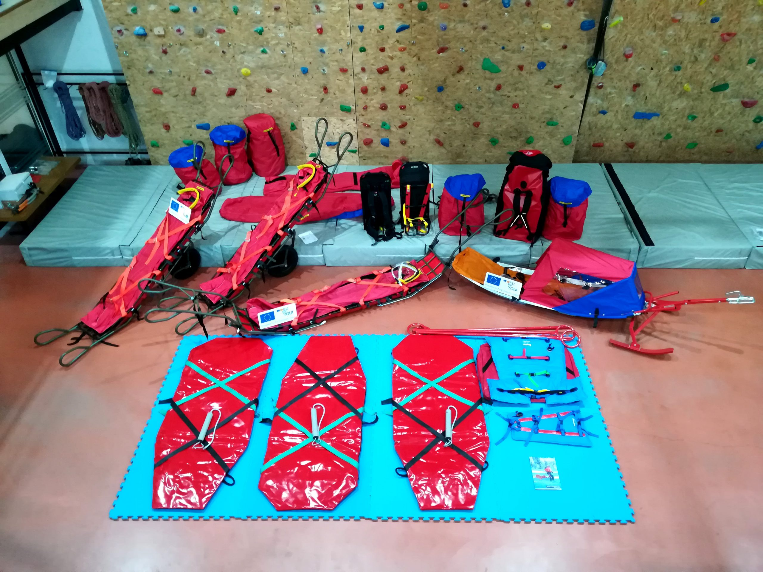 Part of the new specialized equipment for mountain rescue in winter conditions has arrived