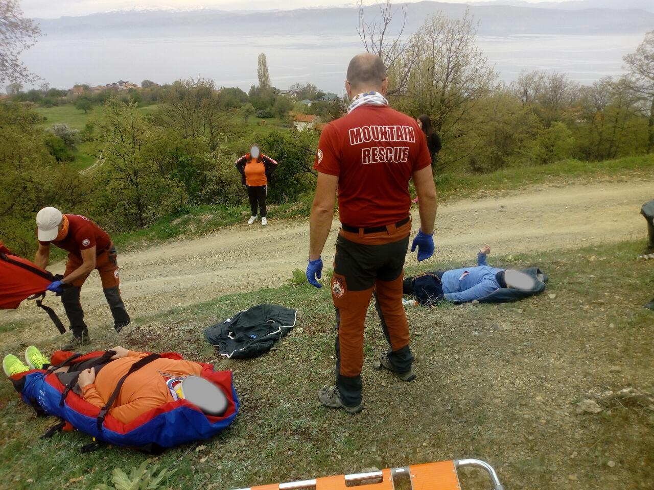 Несреќа во атарот на село Коњско, Охрид