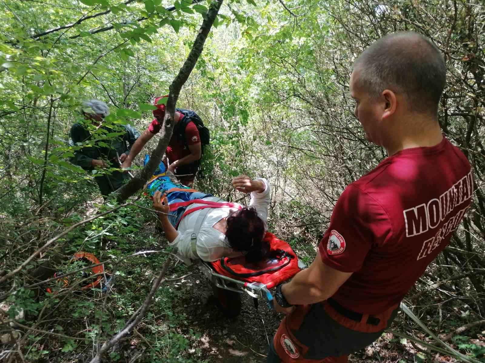 Трета интервенција на ПСС во текот на јули, спасена повредена жена на патеката од Трпејца кон Заум